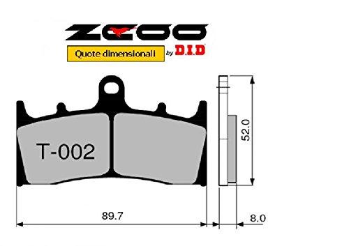 HONDA CBR 600 RR 2005-2006 T005 EX 45T00500 PASTIGLIE FRENO ZCOO ANTERIORE