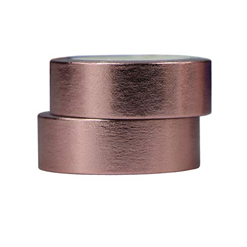 2 Rollen 10m x 15mm Washi Tape Set Deko Klebeband Glitter Metallic Goldfarbe DIY Scrapbook Basteln (Rosegold)