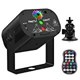 U`King Party Laser Lights with 3 Lens LED Projector Stage Light by Sound Activated Remote Control for DJ Disco Parties Indoor Show Strobe Lighting