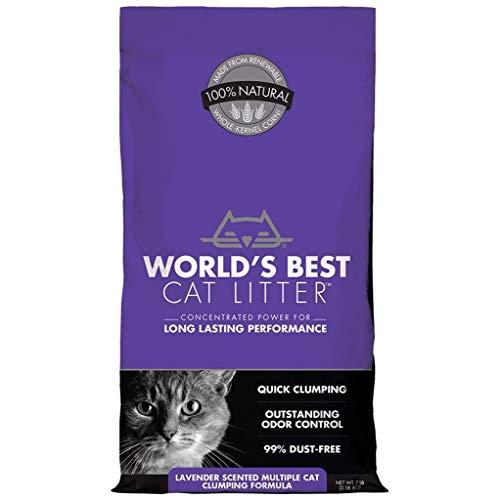 World\'s Best Cat Litter Katzenstreu, Lavendel, 3,18kg