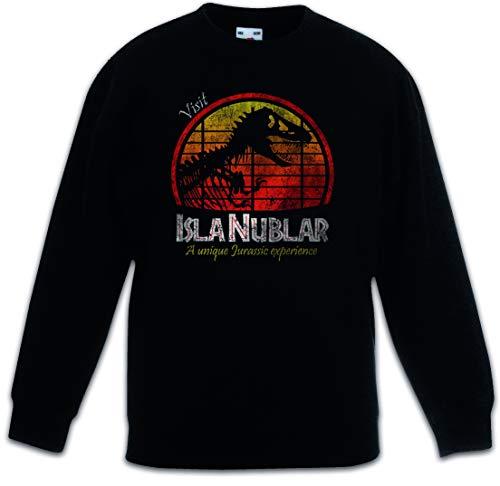 Urban Backwoods Visit Isla Nublar Sudadera Suéter para Niños Niñas Pullover Negro Talla 12 Años