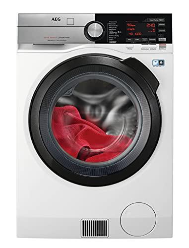 AEG L9WE86695 Waschtrockner mit Wärmepumpe / SensiDry – schonend und energiesparend / 9,0 kg Waschen / 6,0 kg Trocknen / Mengenautomatik / Nachlegefunktion / ProSteam - Auffrischfunktion / Kindersich