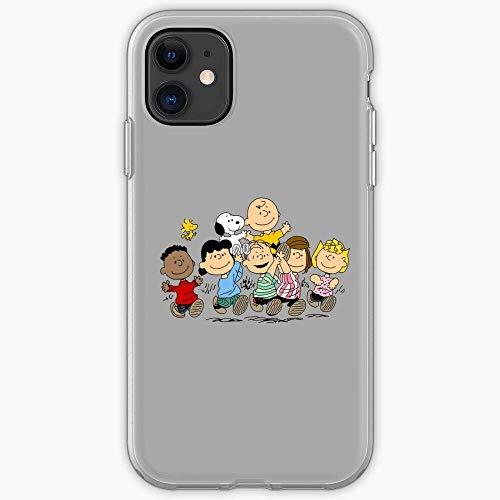Compatible con iPhone 12/12 Pro Max 12 mini 11 Pro Max SE X / XS Max XR 8 7 6 6s Plus Funda Friends Channel Peanuts Oldies But Gang Cartoon Best The Goodies Comic Strip TPU Cajas del Teléfono Cover