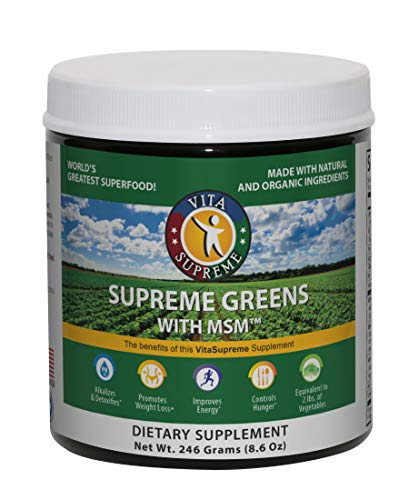✔️ NATURAL AND ORGANIC INGREDIENTS - Supreme Greens provides you with the most nutritional greens supplements available on the market today. Each serving provides you with over two pounds of fresh vegetables in one green powder serving. ✔️ HIGH QUALI...