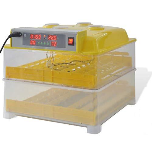 Festnight Incubadora Automática para 96 Huevos de Gallina Color Amarillo