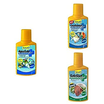 Tetra SafeStart Bacteria + AquaSafe Plus Conditioner and EasyBalance pH Stabilizer Water Treatment Bundle
