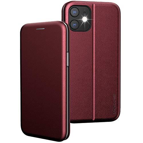 BYONDCASE iPhone 11 Klapphülle Rot [iPhone 11 PU-Leder Flip-Case] iPhone 11 Hülle, 360 Grad Fullbody Rundumschutz Handytasche kompatibel mit dem iPhone 11