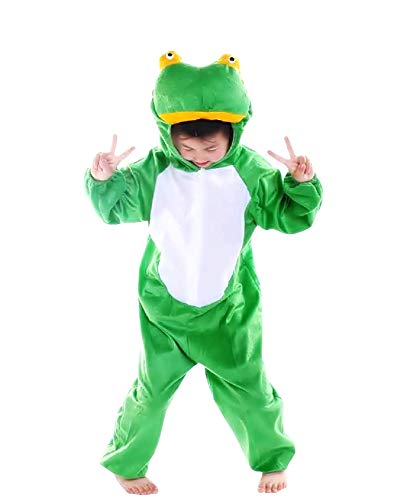 Kikker kostuum - 2/3 jaar - vermomming - carnaval - kikker - forg - halloween - meisje - jongen - unisex - maat s - cadeau-idee voor kerstmis en verjaardag cosplay