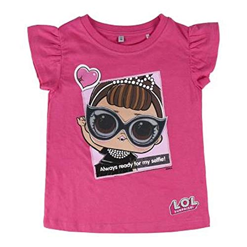 L.O.L. Surprise ! Camiseta para niñas con Las muñecas LOL Rocker, BFF Fancy & Fresh, Diva, M.C Swag, IT Baby, Leading Baby | Top de Verano de algodón para niños (5/6 años, It Baby)