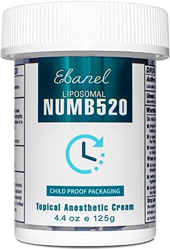 Ebanel 5% Lidocaine Topical Numbing Cream Maximum Strength, 4.4 Oz, Numb 520 Pain Relief Cream Anesthetic...