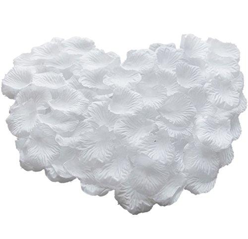 Gespout 1000pcs Pétales de Rose Blanc Soie Artificielle Décoration de Mariage Fête