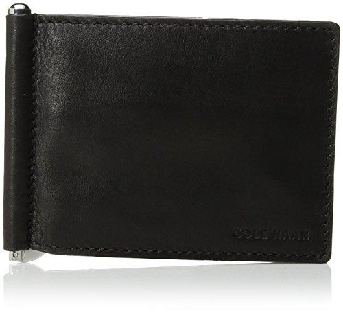 Cole Haan Men's WASHINGTON GRAND HINGED BIFOLD WALLET, black, No Size