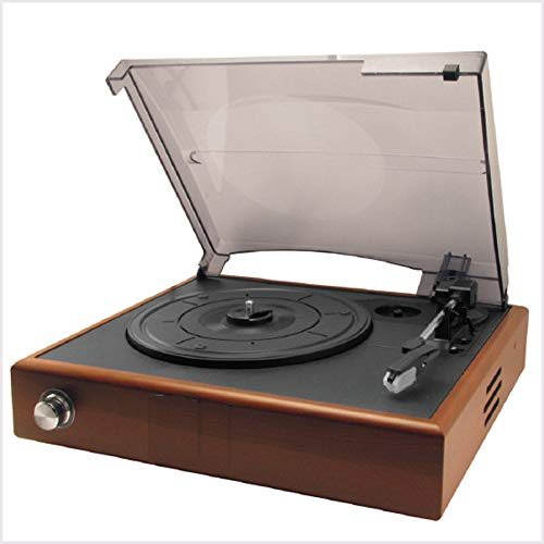 Lefang Retro Portable Vinyl Record Player Vintage LP Record Player Retro Vinyl Record Player Bluetooth Playback 33, 45, 78 RPM Play USB Transkription Automatische Stop