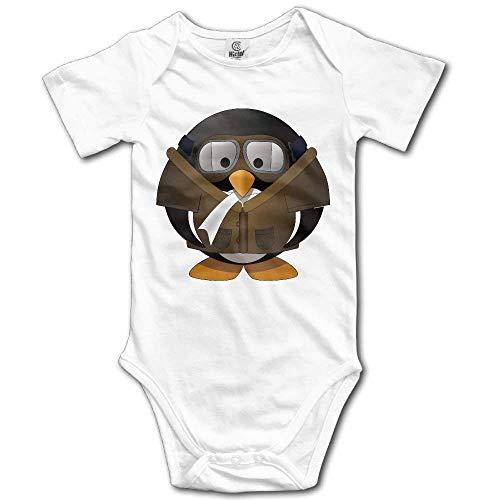 Cartoon Animals Pilot Penguin Goggles Cotton Infant Onesie Newborn Clothes