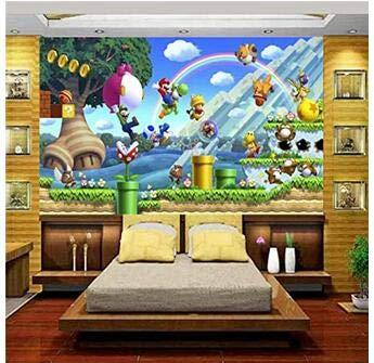 3D Fototapete Foto Fototapete Benutzerdefinierte Tapete Kinderzimmer Super Mario Welt Bäume Malerei Sofa Tv Hintergrund Wand Vlies Aufkleber 300 * 210Cm