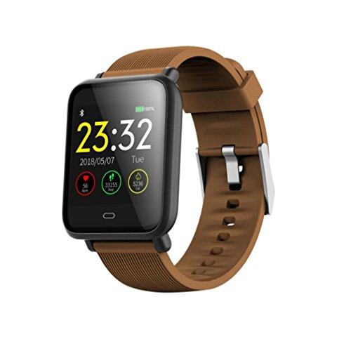 Ears Mehrere Fitness Kalorien Blutdruck Übung Herzfrequenz Schrittzähler Watch Smart Watch Uhr Versa Health Fitness Smartwatch Pulsmesser Schrittzähler Kalorienzähler Schlafanalyse für (Kaffee)