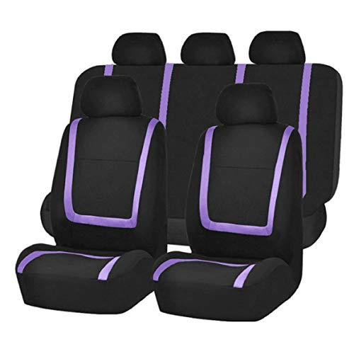 Lowest Price! Kongqiabona 9pcs/Set Fashion Striped Car Seat Covers Dustproof Washable Seat Protector...