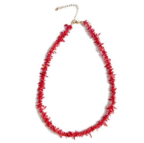 WEIGZ Natürliche Koralle Halskette Armband Zwei Stile der jugendlichen Vitalität,Necklace