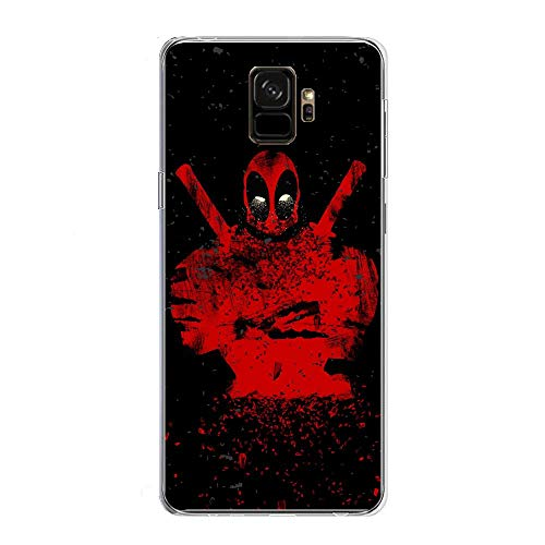 Transparent Anti-Scratch Anti-Yellowing TPU Cover Soft Case for Samsung Galaxy S9-Deadpool-Avengers 10