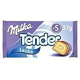 Milka Tender - Barritas de Bizcocho Rellenas de Leche y Cubiertos de Chocolate con Leche, 5 Bolsitas, 185 g