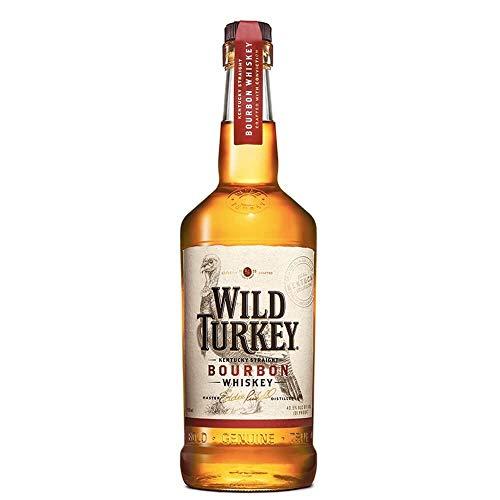 Wild Turkey Bourbon - Whiskey Americano Invecchiato in Botti Nuove di Quercia Bianca bruciate internamente con Note di Vaniglia, Caramello e Spezie, 40,5% Vol, Bottiglia in Vetro da 70 cl