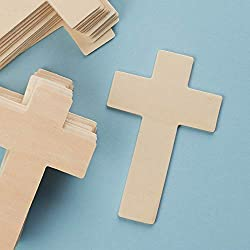 Wooden Unfinished 4-1/4 Inch High Cross - Package of 25 Crosses