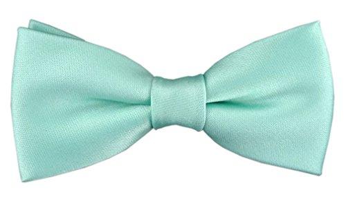 TigerTie Kleinkinder Baby Fliege in mint grün mit Gummizug 29 bis 40 cm Halsumfang verstellbar + Aufbewahrungsbox
