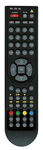 Original Fernbedienung RC-D3-02 für AEG, DUAL, ECG, Schaub LORENTZ & Silva Fernseher