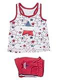 losan Conjunto de Camiseta y Short de Felpa en Color Rojo para niña 916-8017 (5A)