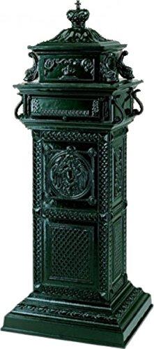 Casa Padrino Standbriefkasten Antik Jugendstil Grün Majestic Briefkasten Postkasten - Säulenbriefkasten