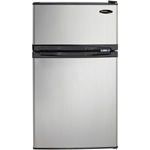 Danby DCR031B1BSLDD Mini Fridge, Steel
