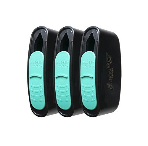 Glucology™ Nadel Entsorgungsbox |Kanuelensammler | Speziell entworfen für Diabetes Nadeln und Diabetes Teststreifen | Kompakte Größe für Reisen und Alltag | Bio-Hazard Verriegelung | 3er Pack
