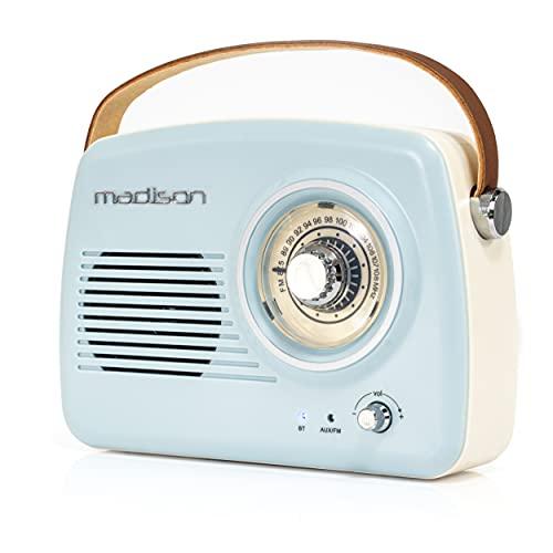 Freesound - VR30 - Madison - Radio Vintage Con Bluetooth (30 W, USB) Color Azul