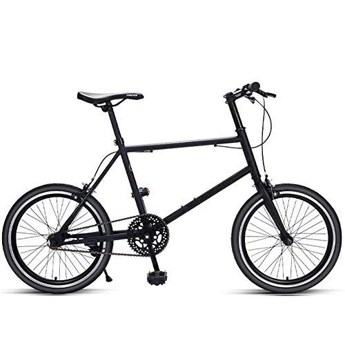 Xiaoyue Frauen Rennrad, Quick Release Kleiner Rahmen High-Carbon Stahl-Straßen-Fahrrad, Single Speed Ultra-Light Stadt-Pendler-Fahrrad, Schwarz lalay (Color : Black)