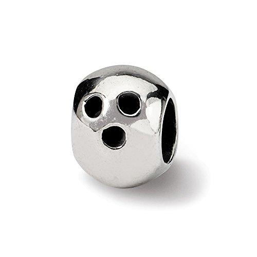 Hermosa plata esterlina reflexiones bola bola de bolos bolas