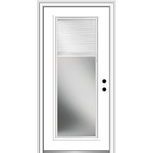 National Door Company, Exterior Single Door, Fiberglass Smooth, 30