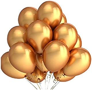 """Pack of 100 Professional Party Décor Wedding Bridal Balloons Helium Quality- 10"""" Round - Metallic Gold"""
