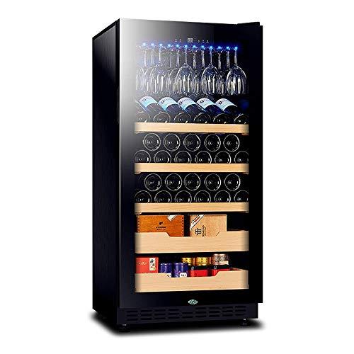 YFGQBCP Multifuncional termoeléctrica Enfriador de Vino, refrigerador de Vino, táctil de Control de Temperatura, Apto for Uso Interior Bodega