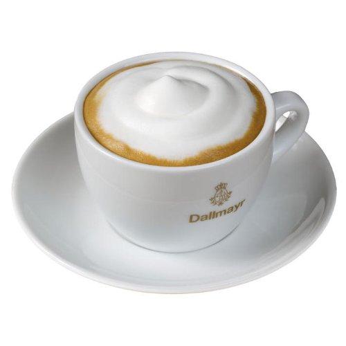 Dallmayr Cappuccino Tasse + Untertasse mit goldenem Aufdruck
