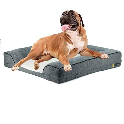 Pet-Dog quadratisches Hundebett Haustierbett Hundematratze quadratisches Hundebett Geeignet für mittlere und große Haustiere,L