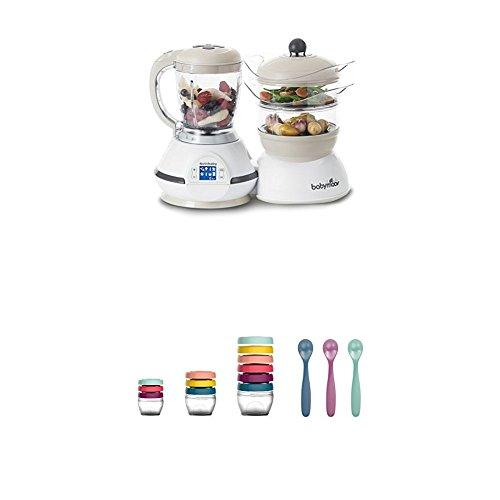 Babymoov Nutribaby Classic A001115 - Procesador de alimentos para bebé, crema + Babymoov Babybols...