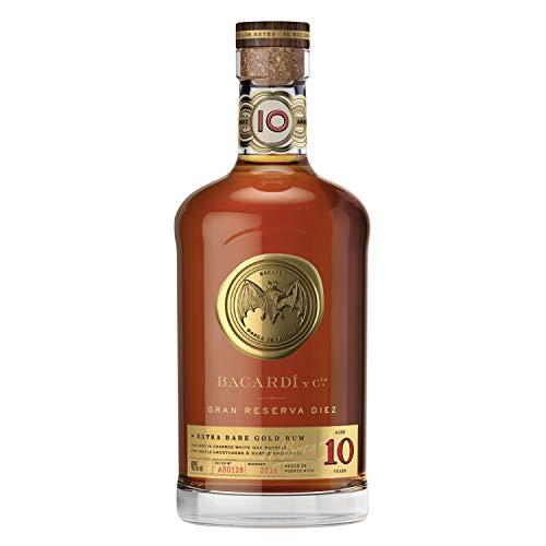 BACARDI 10 Años Gran Reserva Diez Extra Rare Gold Rum 40% - 700 ml