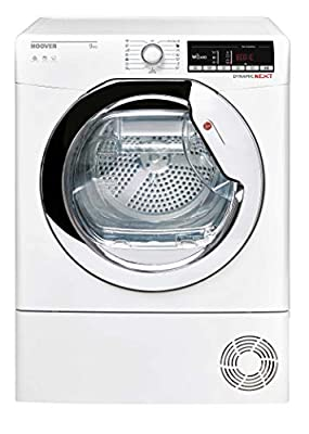 Hoover DXOC9TCE Freestanding Condenser Tumble Dryer with Aquavsion, WiFi Connected, 9Kg, White