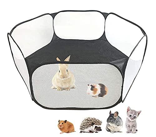 Parque para pequeños animales – Tienda de campaña para animales – Mini Barrera plegable – Bolsa para hámster sin tapa – transparente – Jaula para jugar, de tela para...