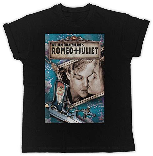 SHANTOU Cool Romeo Juliet Movie Poster Tshirt Unisex Black Mens T Shirt Black-L