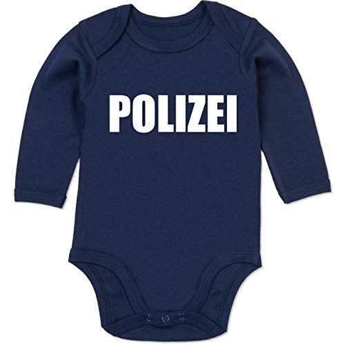Shirtracer Karneval und Fasching Baby - Polizei Karneval Kostüm - 12/18 Monate - Navy Blau - Baby Karneval kostüme - BZ30 - Baby Body Langarm