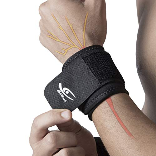 HiRui 2 PACK Wrist Compression Strap and Wrist Brace Sport Wrist Support for Fitness, Weightlifting, Tendonitis, Carpal Tunnel Arthritis, Wrist Pain Relief-Wear Anywhere-Unisex,Adjustable