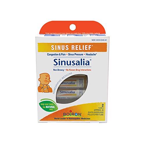 Boiron Sinusalia, 2 Tubes, (80 Pellets per Tube), Homeopathic Medicine for Sinus Relief