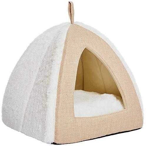 UMI. Essential Cama de gato suave y cómoda, color beige