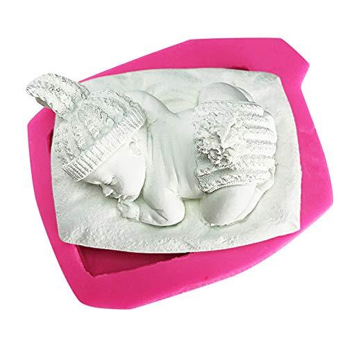 Faviye DIY bebé 3D Molde de Silicona para Pasteles, jabones, Puddings, Chocolates, Velas
